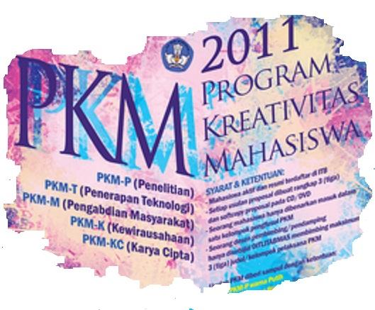 Pengumuman Hasil Evaluasi PKM 5 Bidang 2011 yang Didanai 2012 ...